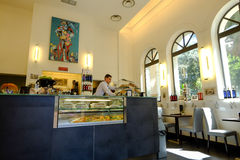 Restaurant and coffee bar in Rome Stock Image