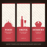 Restaurant or coffee house menu. Menu template for restaurant and cafe Royalty Free Stock Photography
