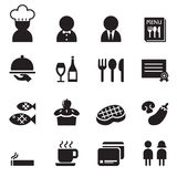 Restaurant & Coffee shop icon set Royalty Free Stock Image