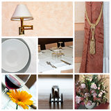 Restaurant collage. A collage of photos about hotel or restaurant theme Royalty Free Stock Photo