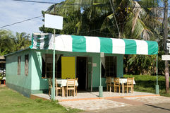Restaurant  colorful Corn Island Nicaragua Stock Images