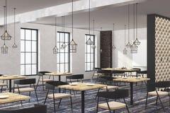 Restaurant contemporain de grenier avec l'affiche vide illustration de vecteur