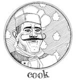 Restaurant cook profession portrait Stock Photography
