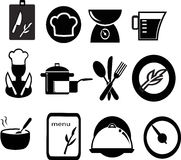 Restaurant and cooking icons Royalty Free Stock Photography