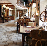 Restaurant in country style Stock Photography