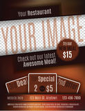 Restaurant coupon flyer template. Vector flyer template design for Restaurant Coupon with space for your custom image Royalty Free Stock Image
