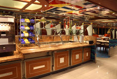 Restaurant on cruise ship Costa Deliziosa Royalty Free Stock Image