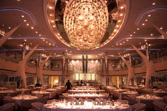 Restaurant on cruise ship Stock Photo
