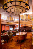 Restaurant on a cruise ship Stock Photo