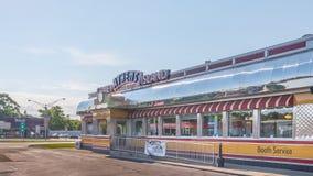 Restaurant d'Athènes Coney Island, croisière rêveuse de Woodward, MI Photos stock