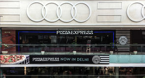 Restaurant d'Inde de PizzaExpress à New Delhi Photo libre de droits