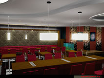 Restaurant 02. 3D interior : Commercial Royalty Free Stock Images