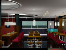 Restaurant. 3D interior : Commercial Stock Photography