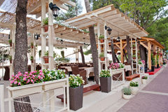 Restaurant in Dalmatian Resort Stock Image