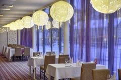 Restaurant dans l'hôtel Photos libres de droits