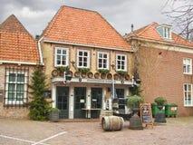 Restaurant dans la ville néerlandaise de Heusden Photos libres de droits