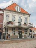 Restaurant dans la ville néerlandaise de Heusden, Pays-Bas Images stock