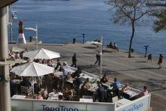 Restaurant dans le centre commercial. Barcelone. Espagne Images stock
