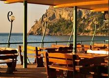 Restaurant dans le paradis Photographie stock libre de droits