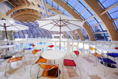 Restaurant dans le waterpark Caribia Images stock