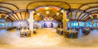 Restaurant dans les montagnes de Sotchi Krasnaya Polyana Rosa Khutor images libres de droits