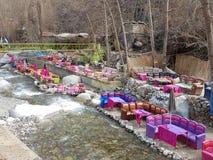 Restaurant dans Setti Fatma Images stock