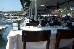 Restaurant de bord de la mer Image stock
