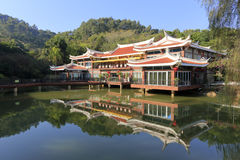 Restaurant de bord de lac de Weiyou (ami de goût) Photos stock