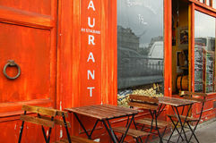 Restaurant de bord du quai Images libres de droits