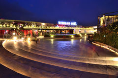 Restaurant de café de colline de Nimman beau au-dessus de MAYA Building Photographie stock