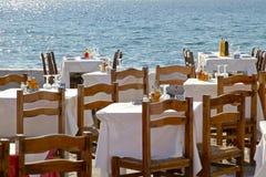 Restaurant de café de Mykonos Image stock