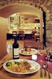 Restaurant de cave Photo libre de droits