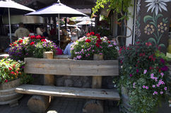 Restaurant in de Duitse stad van Leavenworth Royalty-vrije Stock Fotografie