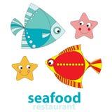 Restaurant de fruits de mer Images libres de droits