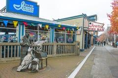 Restaurant de fruits de mer d'Ivars de bord de mer de Seattle Images libres de droits