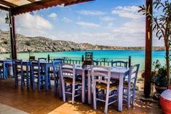 Restaurant de Grec de Rhodes Image libre de droits