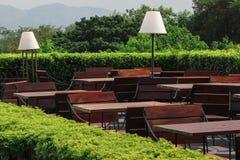 Restaurant de jardin Image libre de droits