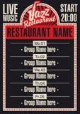Restaurant de jazz illustration de vecteur
