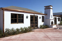 Restaurant de l'Arizona avec le patio de cheminée photos stock