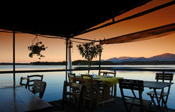 Restaurant de la Corse Photo libre de droits
