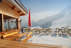 Restaurant de loge de ski Image stock