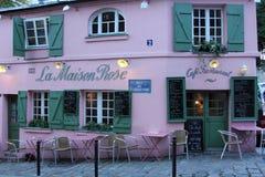 Restaurant de Maison Rose de La sur Montmartre à Paris Image libre de droits