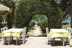 Restaurant de Mediteranian images stock