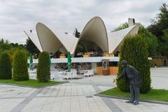 Restaurant de Mirvari sur le boulevard de Bakou Image libre de droits