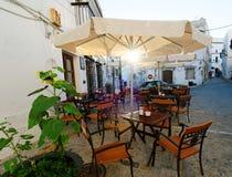 Restaurant in de open lucht stock afbeeldingen