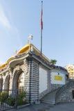 Restaurant de Petit Palais de le, Montreux Photographie stock libre de droits