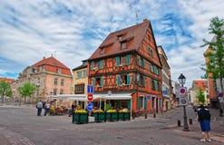 Restaurant de Pfeffel à Colmar en Alsace dans les Frances Photographie stock