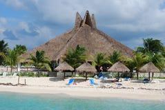 Restaurant de plage Photos libres de droits