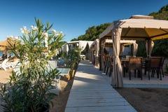 Restaurant de plage sur la Mer Noire Image stock