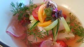 Restaurant de Plats gastronomiques image stock